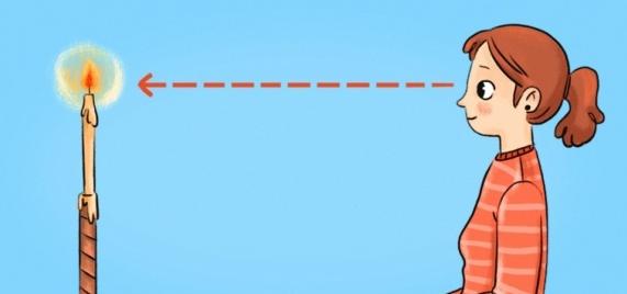 9 проверенных способов улучшить зрение. Упражнение со свечкой